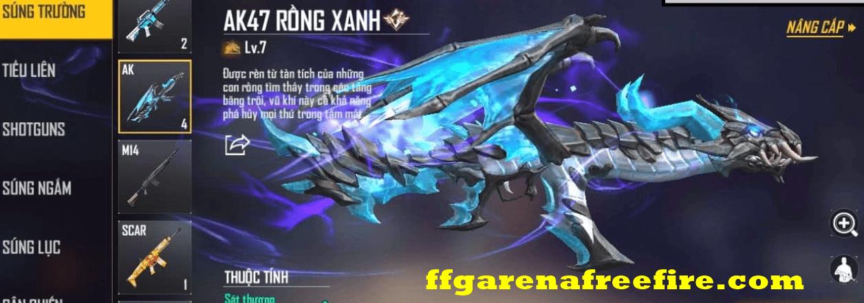 nhận AK rồng xanh miễn phí